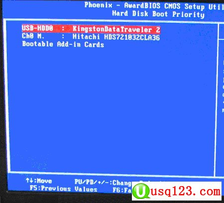 Phoenix–AwardBIOS设置U盘启动的方法3