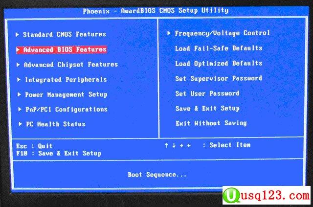 Phoenix–AwardBIOS设置U盘启动的方法1