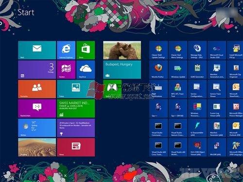 Win8的开始屏幕支持更改背景图案吗
