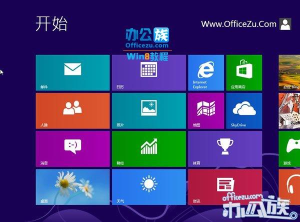 进入Windows8系统Metro界面